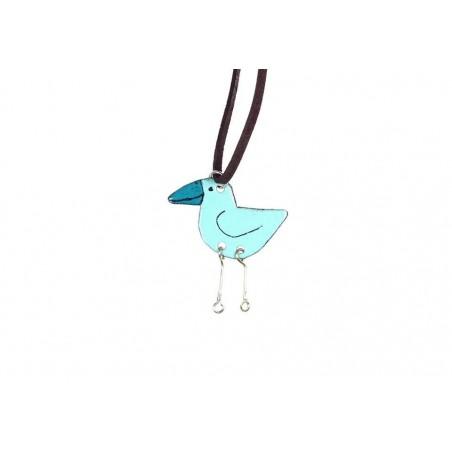 Smaltovaný přívěsek - ptáček