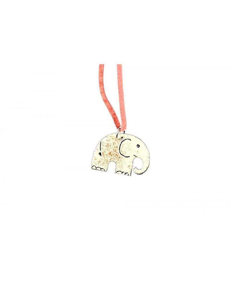 Smaltovaný přívěsek - slon