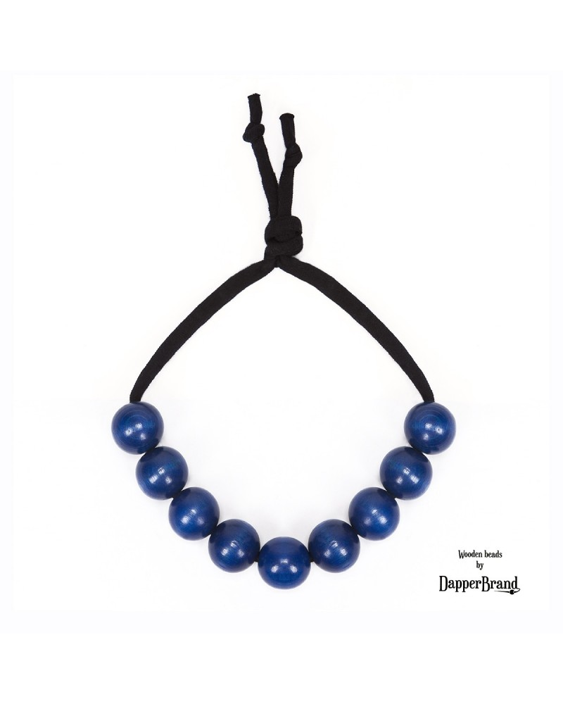 Tm. modré poloviční korále